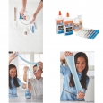 Elmer's Glue Frosty Slime Kit, Clear School Glue, Glitter Glue Pens & Magical