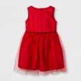 Toddler Girls' Red Flock Dot Dress Set Cat & Jack - Red 3T