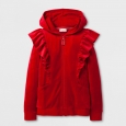 Girls' Ruffle Hoodie - Cat & Jack Red XL