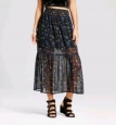 Xhilaration Women's Woven Maxi Skirt - Black - Size: M