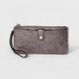 Women's Wristlet - A New Day Gunmetal Metallic