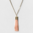 Sugarfix by BaubleBar Beaded Tassel Pendant Necklace - Light Pink