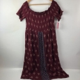 Women's Smocked Off The Shoulder Midi Dress Xhilaration Berry Plus Size Xl
