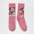 Women's Disney Casual Socks Deep Red 9-11