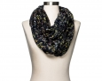 Women's Floral Fashion Scarf - A Day???Black