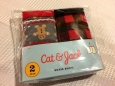 Gingerbread Man & Red Black Plaid Boys 2-pack Holiday Boxer Briefs Cat & Jack...