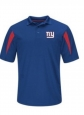 York Giants Mens Team Logo Polo Shirt Blue Small