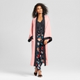 Women's Silky Robe Coat - Who What Wear Pink M