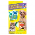 16ct Valentine's Day Mello Smello Cats and Dogs Gel Cling Cards, Multi-Colored