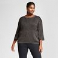 Women's Plus Size 3/4 Sleeve Shine Pullover - Ava & Viv Gold 3x