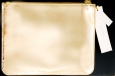 West Emory Mirror Pouch Golden Shiny Reflective Metallic Gold Color Zip Bag