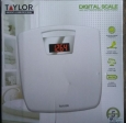 "Taylor Digital 1.2"" Lcd Antimicrobial Bathroom Scale White"