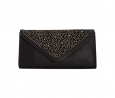 Carlos by Carlos Santana Mariana Envelope Clutch (BLACK / GOLD)