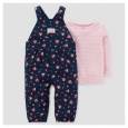 Baby Girls' 2pc Cotton Overall Set - Just One You Made by Carter's Navy/Pink