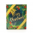 Paper Magic Merry Christmas Holly Box Gift Card Holder, Multi-Colored