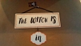 The Witch Is In/out Hanging Metal Sign Halloween Decor