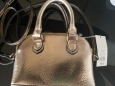 Women's Mini Dome Purse Handbag Cross Body - A Day Metallic Gold