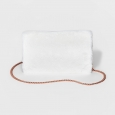 Mossimo Supply Co. Faux Fur Foldover Clutch W/ Removable Crossbody Chain Cream