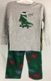 Cat & Jack Toddler Boys Dinosaur T-rex Christmas Pajama Set - 18m