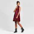 Women's Velvet Cutout Shift Dress - Xhilaration Wine (Red) M