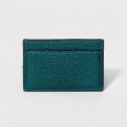 Women's Credit Card Wallet - A New Day Dark Teal Metallic