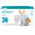 Flex Fit Tall Kitchen Drawstring Bags 13gal - 65ct - up & up, White