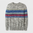 Boys' Fairisle Pullover Sweater - Cat & Jack Gray XS