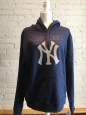 York Yankees Genuine Merchandise Navy Hooded Sweatshirt Hoodie Size Large