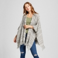 Women's Lurex Stripe Waterfall Cardigan - Knox Rose XL, Multicolored