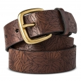Women's Belt Dark Brown with Laser Pattern Merona XL