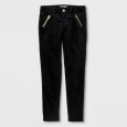Girls' Velvet Skinny Fashion Pants - Cat & Jack Black 10