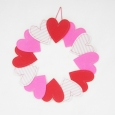 Valentine's Day Felt Heart Wreath - Spritz, Multi-Colored