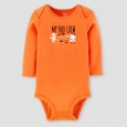 Baby Boo Crew Bodysuit - Just One You Made by Carter's Orange 9M