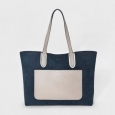 Women's Colorblock Tote Handbag - Merona Dark Navy
