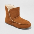 Mossimo Women's Rhea Suede Moccasin Bootie Slippers - Brown - Size:9