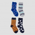 Boys' Crew Socks 4pk - Cat & Jack L, Multicolored