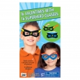 16ct Valentine's Day Mello Smello Superhero Glasses Cards, Multi-Colored