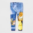 Toddler Girls' Beauty And The Beast Legging Pants - Disney Princess Blue 4T