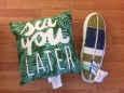 "Surf Board Throw Pillow (19""x6"") Green & Blue - Pillowfort"