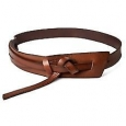 Women's Wide Messy Knot Belt Brown L - Mossimo Supply Co.