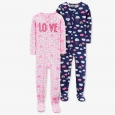 Toddler Girls' Love/Clouds Pajama Set - Just One You made by carter's Pink 2T