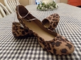 Mossimo Supply Co. Cute Size 6.5 Women's Ona Scrunch Leopard Ballet Flats