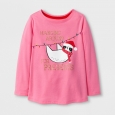 Toddler Girls' Long Sleeve T-Shirt - Cat & Jack Pink 2T, Yellow
