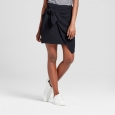 Women's Tie Skirt - Who What Wear Black 12