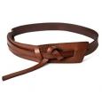 Women's Wide Messy Knot Belt Brown S - Mossimo Supply Co.