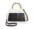 Olivia + Joy Claudia Small Satchel (White/ Black)