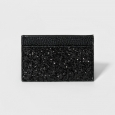 Women's Credit Card Wallet - A New Day Black Glitter
