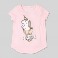 L.O.L. Vintage Girls' Uni-Cone Graphic Short Sleeve T-Shirt - Light Pink M
