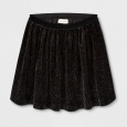 Girls' Velvet Sparkle A Line Skirt - Cat & Jack Black XL