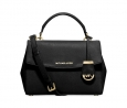 MICHAEL Michael Kors Ava Small Top Handle Satchel (Black/Gold)